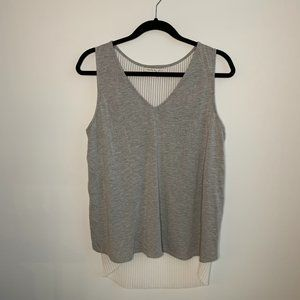 SEARCH FOR SANITY | Gray & White High-Low Tank